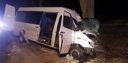 Autobus uderzył w drzewo. Nie żyje kierowca, dwie osoby są ranne