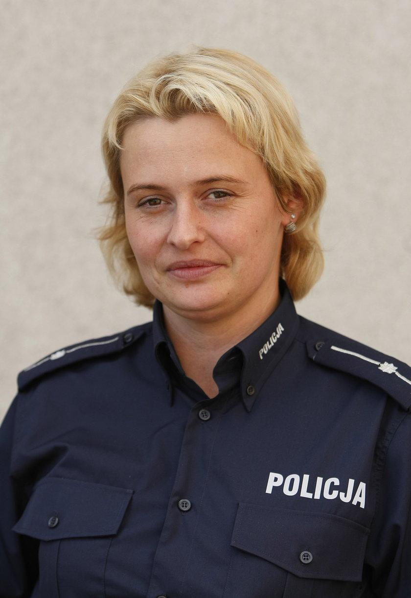 st. asp. Iwona Ochman, rzecznik policji w Lublińcu.