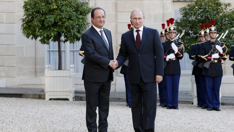 Hollande i Putin rozmawiali o Ukrainie