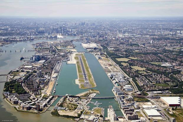 London City widziane z powietrza