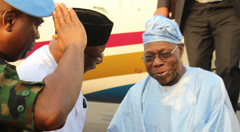 Obasanjo arrives Benue to lay foundation for Catholic Church special school