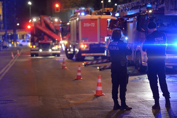 Mrozek poinformował, że wstrzymano ruch w rejonie ulic Wileńska - Targowa - Inżynierska.