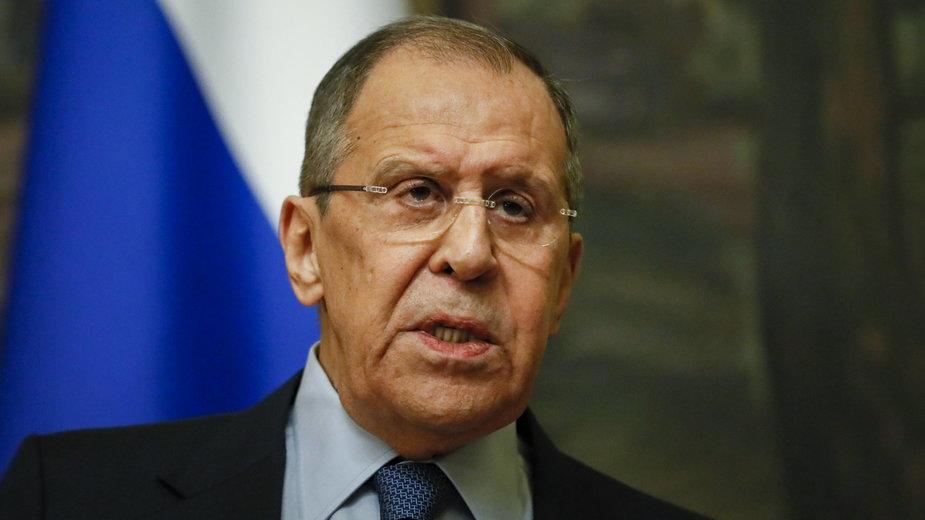 Rosja. Siergiej Ławrow (fot.) zapowiedział wydalenie pięciu polskich dyplomatów