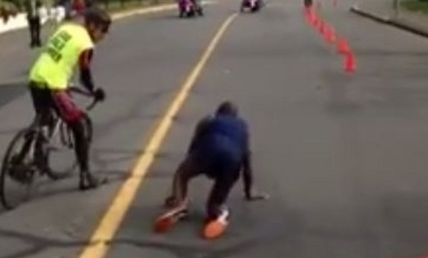Dramat maratończyka, był liderem padł 300 metrów przed metą! WIDEO