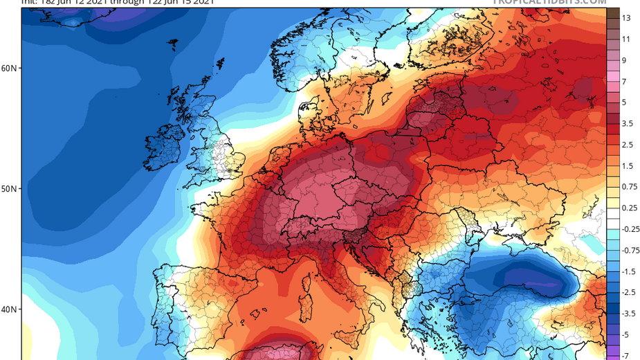 Anomalie termiczne w Europie