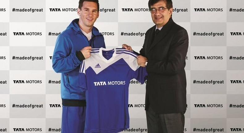 Lionel Messi and Tata Motors official