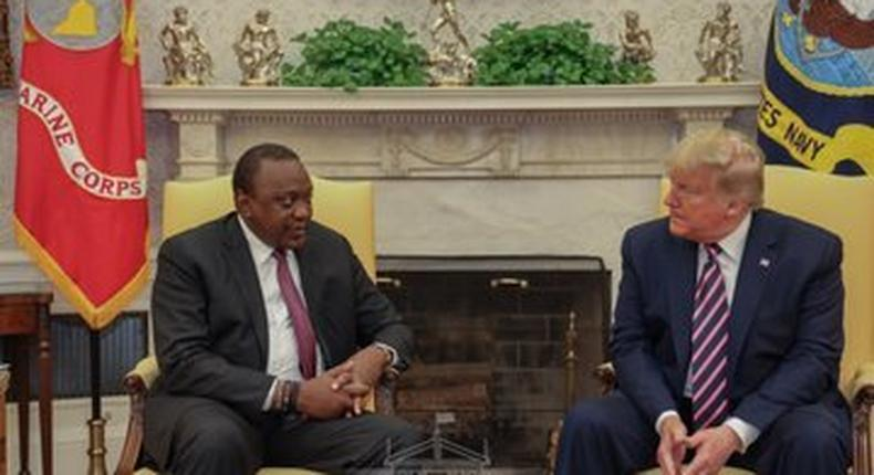 Uhuru's meeting with Trump at the White House
