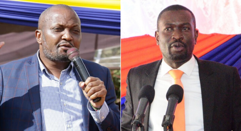 Please be Jubilee party Secretary General - Gatundu South MP Moses Kuria proposes to ODM official Edwin Sifuna on national TV