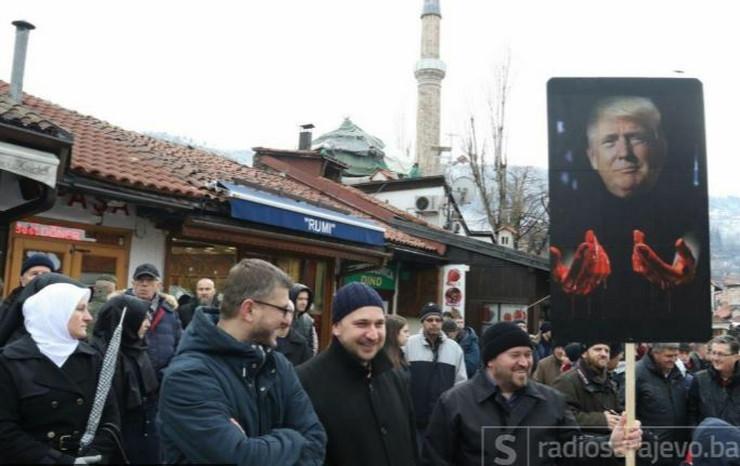 Protest u Sarajevu Palestina