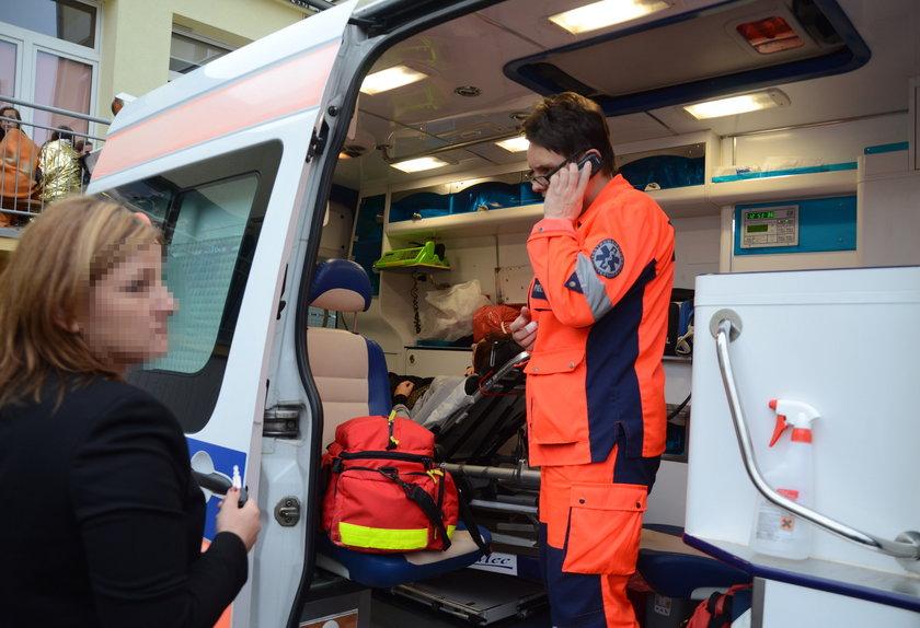 Pogotowie ratunkowe w Szkole Podstawowej nr 7 w Lubinie