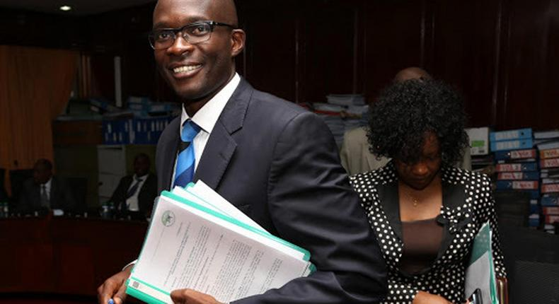 Former Independent Electoral and Boundaries Commission (IEBC) chief executive officer Ezra Chiloba