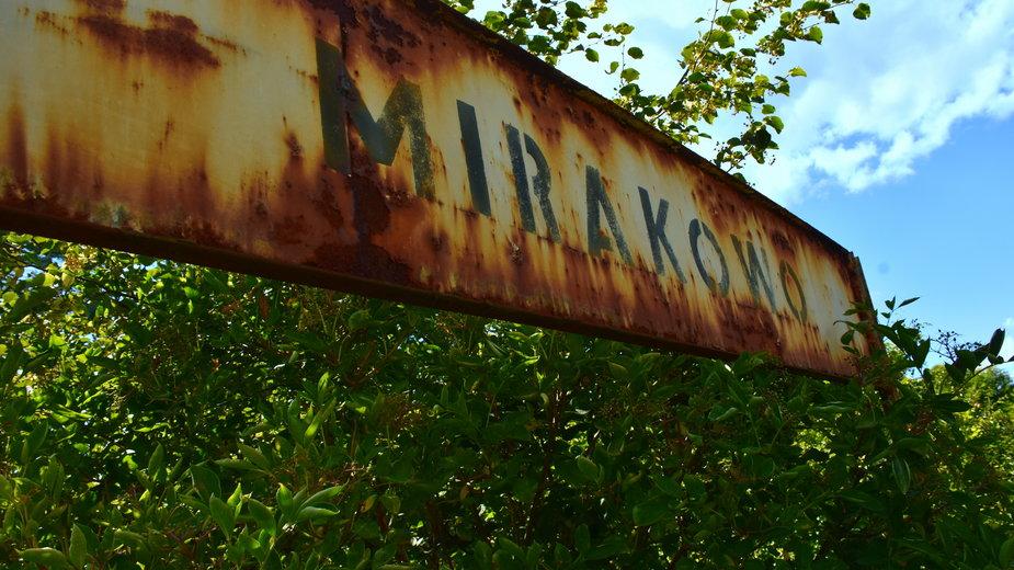 Nieczynna stacja kolejowa Mirakowo