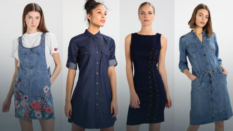 97756aa41fec2a Sukienki jeansowe. Jeansowa sukienka na wiosnę. Jeansowe sukienki ...