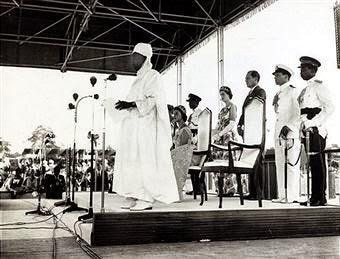 Tafawa Balewa delivering his speech (Credit - Lost Photos)