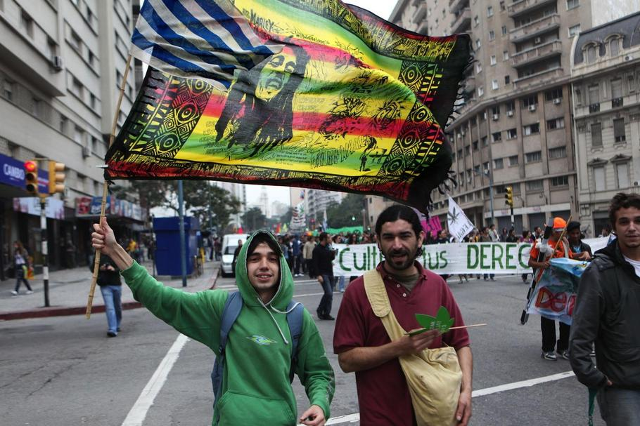 URUGUAY MARIJUANA LEGALIZE IT PROTEST