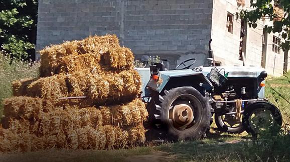 Traktor na kom je ubijen Raja