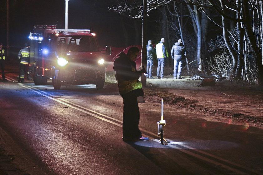 Golf roztrzaskał się o drzewa. Zginęło dwóch młodych mężczyzn