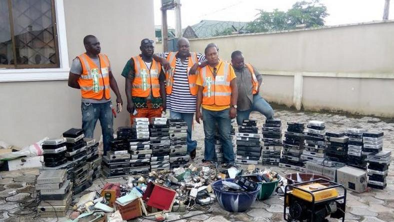 Items seized from the defaulters by the NCC