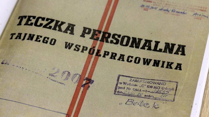 """Teczka personalna TW """"Bolka"""""""