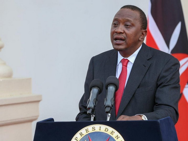 President Uhuru Kenyatta during a past address at State House, Nairobi (Twitter)