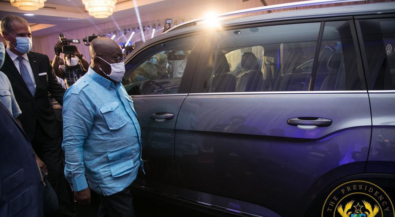 Akufo-Addo unveils first VW assembled cars in Ghana