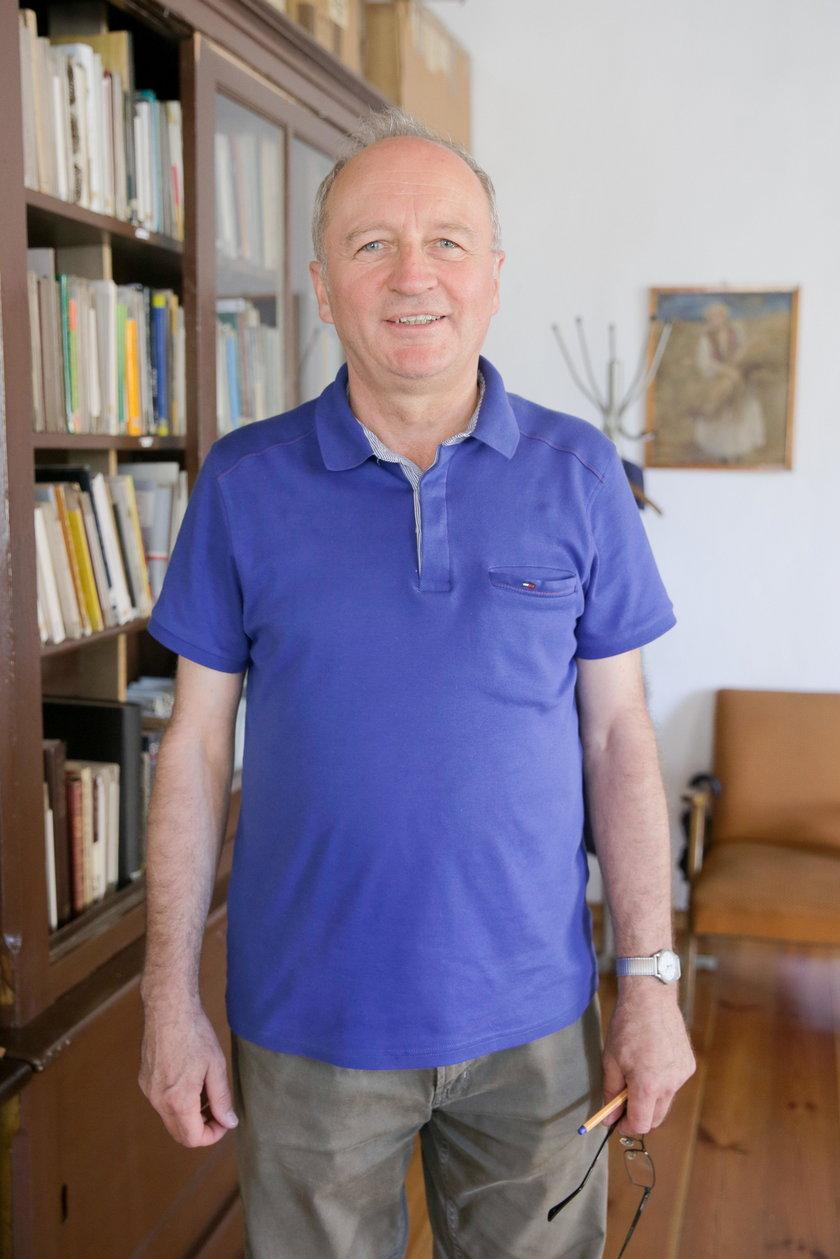 Daniel Szczepaniak (60 l.) z Muzeum Regionalnego w Krotoszynie