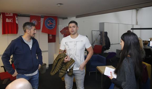 Rađen u Blicsportu, u razgovoru sa urednicima i novinarima