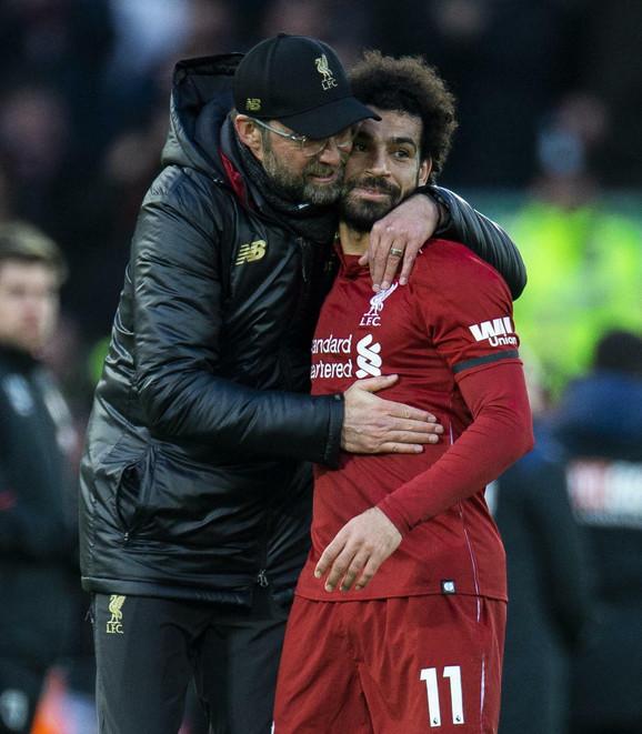 Trener Liverpula Jirgen Klop i najbolji strelac ekipe Mohamed Salah