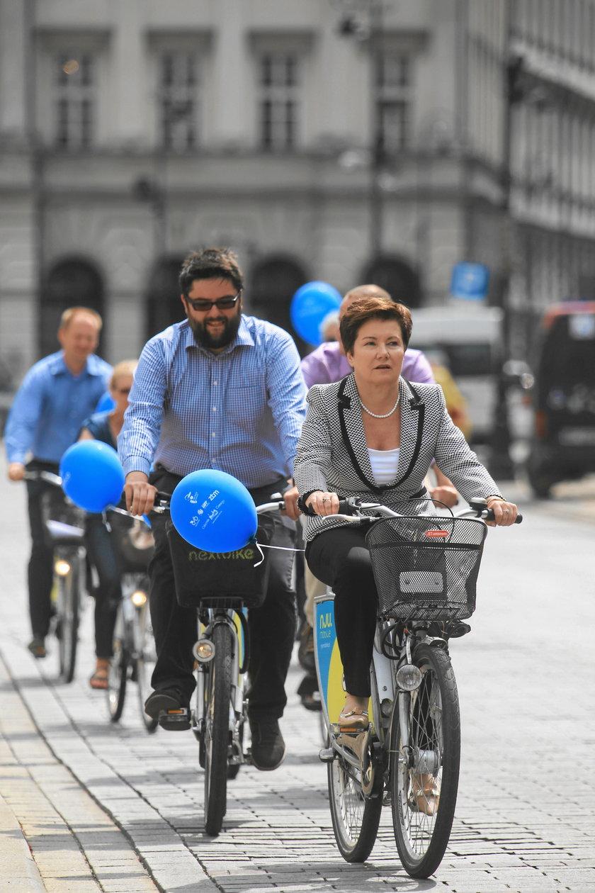 Prezydent lubi rowery
