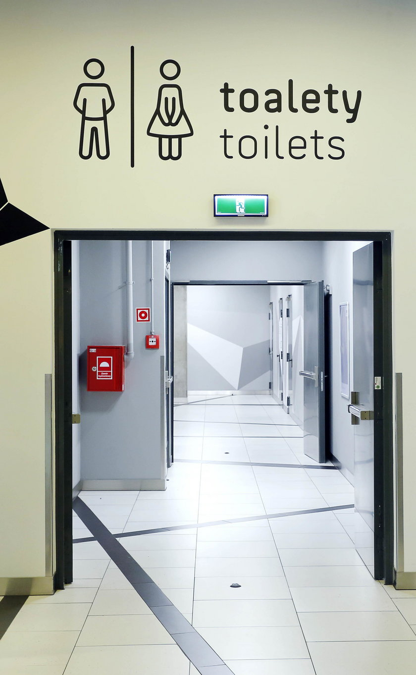 Wejście do toalet