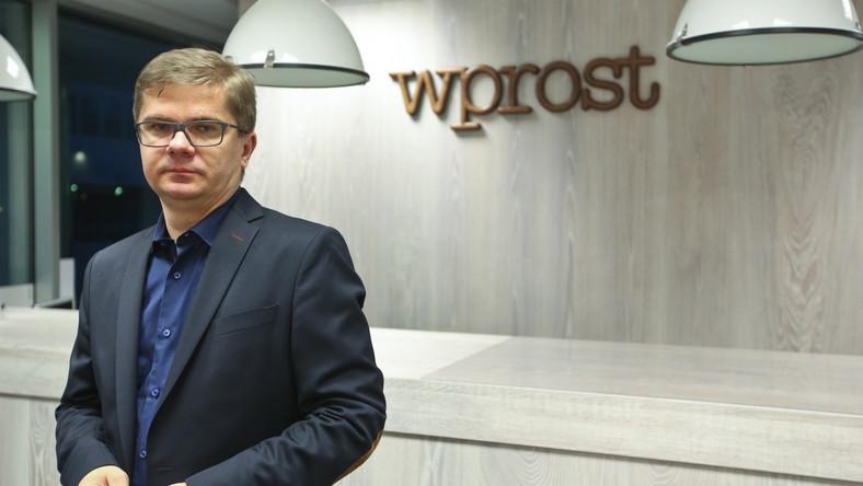 """Sylwester Latkowski w redakcji """"Wprost"""""""