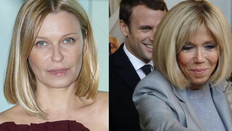 Paulina Młynarka, Emmanuel Macron i Brigitte Trogneux