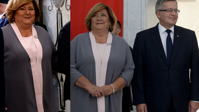 Anna Komorowska towarzyszyła w Sejmie swojemu mężowi, który ustępował dziś z urzędu prezydenta Polski.