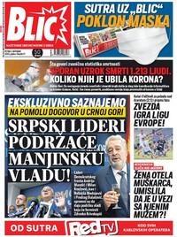 NOVA naslovna Blic 2.10.