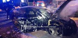 Auto za milion złotych spłonęło pod Legionowem