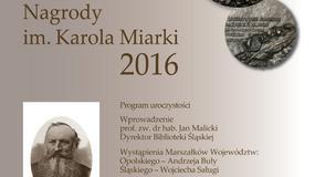 W Katowicach wręczono nagrody im. Karola Miarki