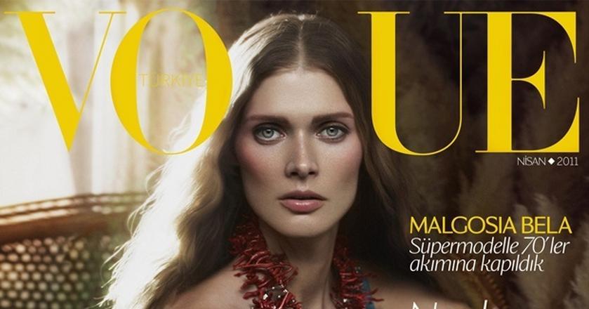 """Małgorzata Bela pojawiła się dotąd na kilku okładkach magazynu """"Vogue"""""""