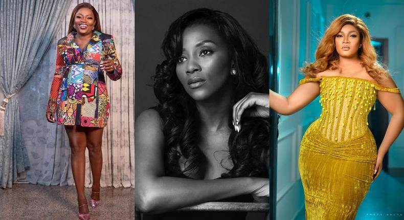 Funke Akindele-Bello, Genevieve Nnaji and Omotola Jalade-Ekeinde [Instagram]