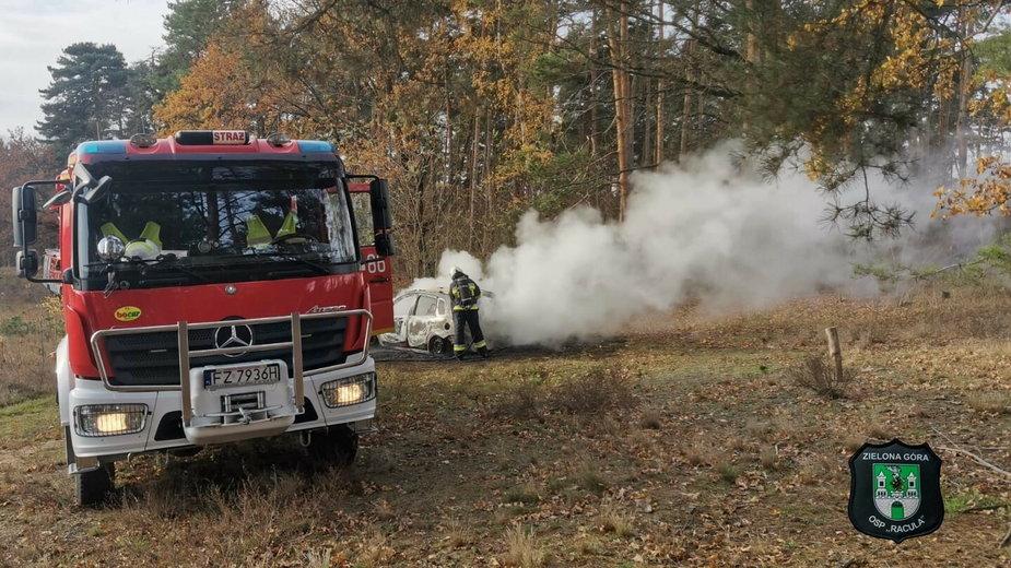 Interwencja straży pożarnej w Drzonkowie pod Zieloną Górą