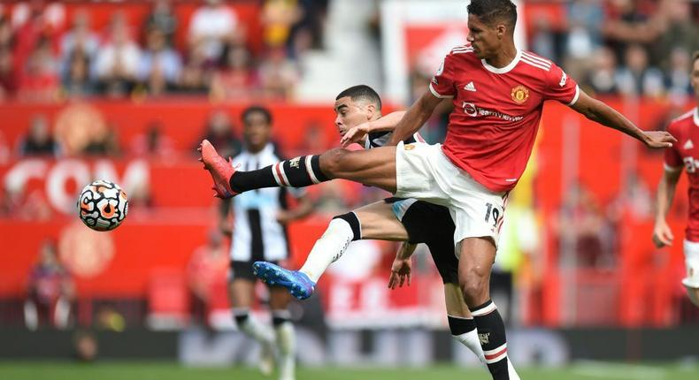 Manchester United defender Raphael Varane will be sidelined for a 'few weeks' by a groin injury Creator: Oli SCARFF