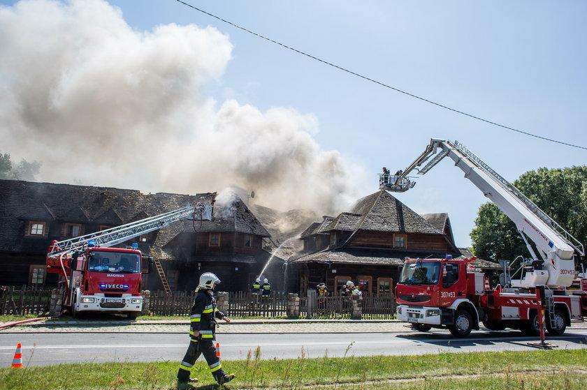 Pożar gospody Młyńskie Koło na ul. Browarnej