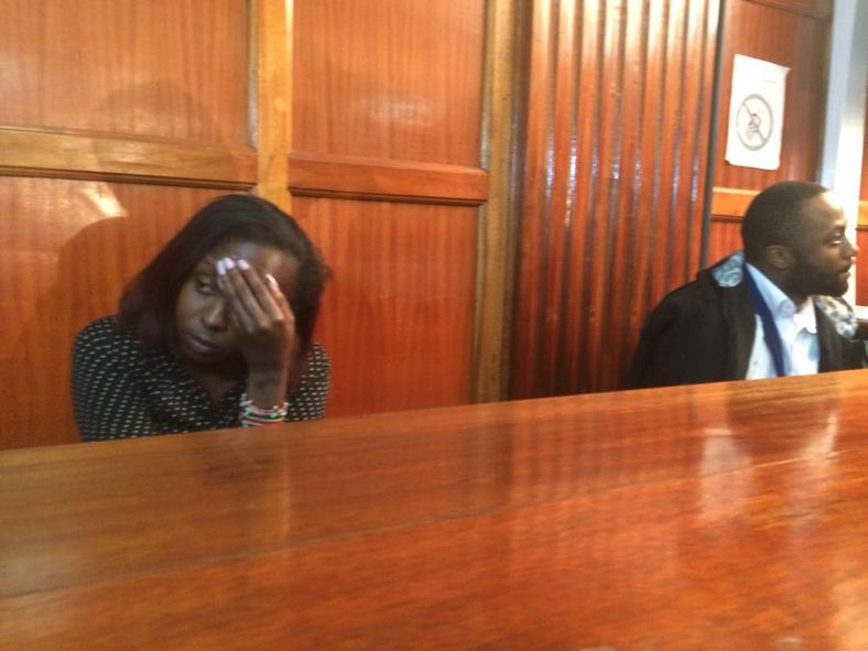 Jowie Irungu and Jacque Maribe in a past court appearance