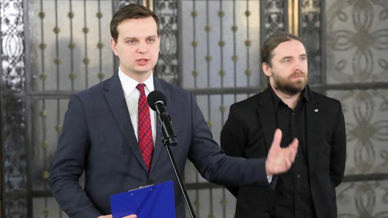 Dobromir Sośnierz (z prawej) i Jakub Kulesza