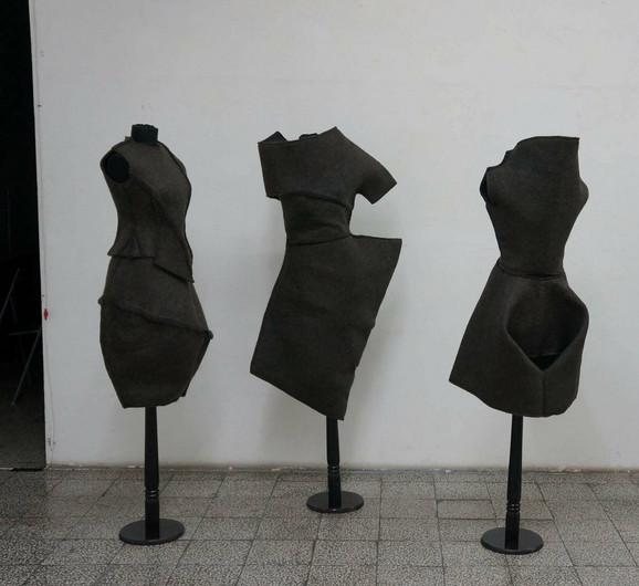 """Prvonagrađeni rad: """"Hair dress"""" Aleksandre Lalić, visoka moda od presovano-filcane ljudske kosevde potpis"""
