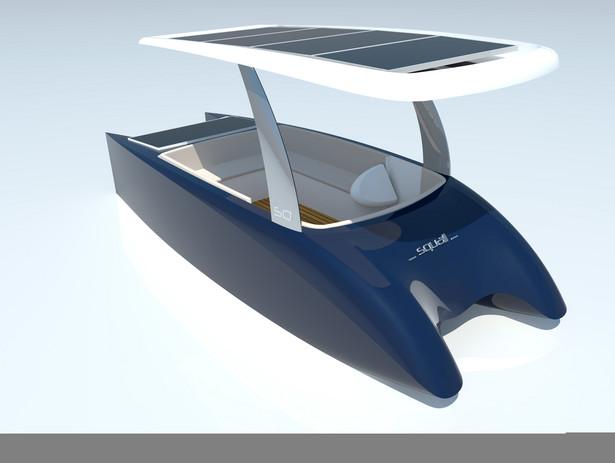 Łódka napędzana słońcem