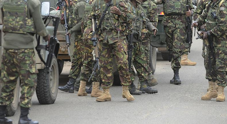 Kenya Defence Forces soldiers (Twitter)