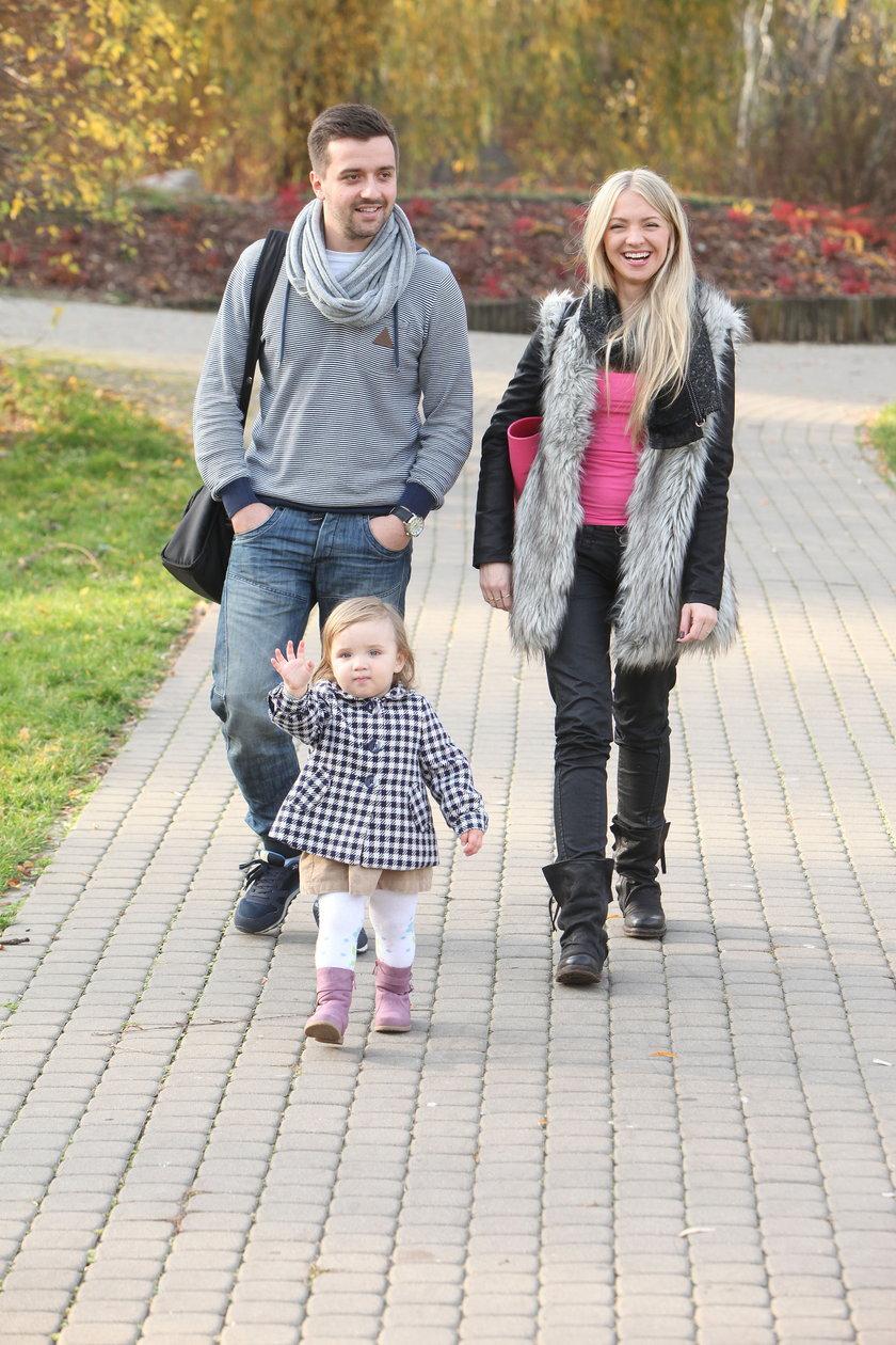 Barbara Kurdej-Szatan z mężem i córką