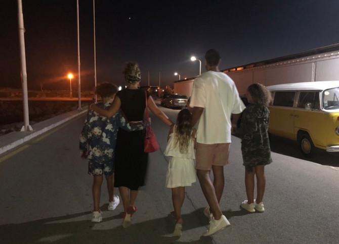 Kejt i Rio sa njegovom decom iz prvog braka