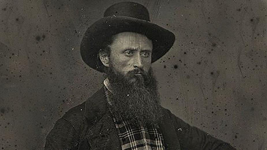 Adam Piotr Mierosławski (1815-1851), polski marynarz, inżynier, fotografia z 1849 roku, Paryż