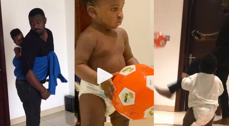 VIDEO: John Dumelo playing football with his son is the cutest thing you'll see